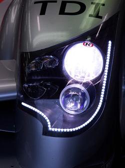 Audi Sport Team Joest Audi R15 TDI headlight detail