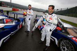 Simon Pagenaud and Pedro Lamy share a laugh