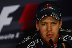 Post-race press conference: third place Sebastian Vettel, Red Bull Racing