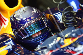 Sebastian Vettel, Red Bull Racing has a new helmet
