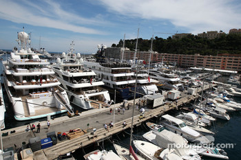 Monaco harbor atmosphere