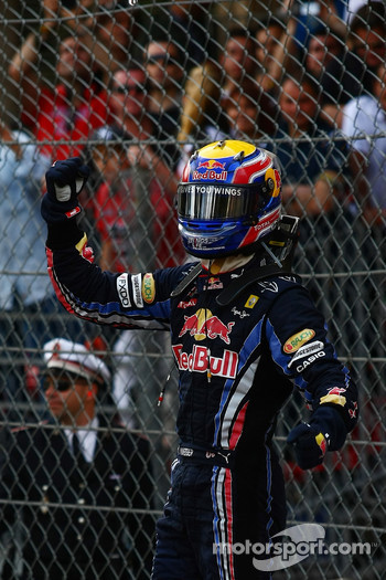 First place Mark Webber, Red Bull Racing