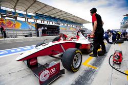 Pedro Nunes in the pit lane