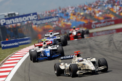 Giedo Van der Garde leads Davide Valsecchi and Michael Herck