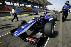 Josef Newgarden on the grid