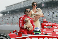 2010 Indianapolis 500 Champion Dario Franchitti, Target Chip Ganassi Racing and wife Ashley Judd.