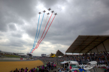 Flyover by the Patrouille de France