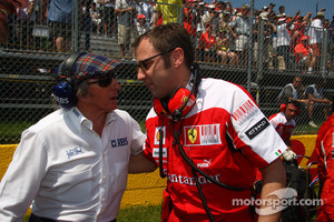 Sir Jackie Stewart with Stefano Domenicali, Ferrari General Director