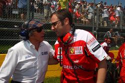 Sir Jackie Stewart with Stefano Domenicali, Ferrari General Director