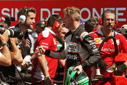Nico Hulkenberg, Sahara Force India F1 in qualifying parc ferme