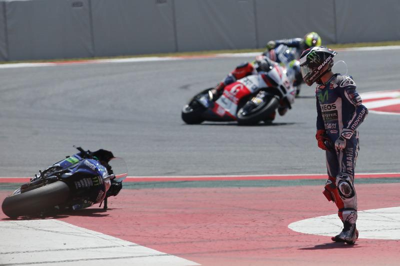 Хорхе Лоренсо, Yamaha Factory Racing аварія