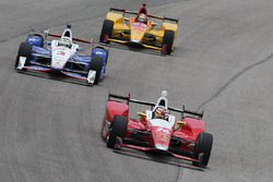 Carlos Munoz, Andretti Autosport Honda, Helio Castroneves, Team Penske Chevrolet, Ryan Hunter-Reay, Andretti Autosport Honda