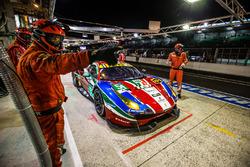 Pit stop for #51 AF Corse Ferrari 488 GTE: Gianmaria Bruni, James Calado, Alessandro Pier Guidi