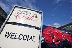 Paddock Club sign