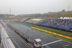 Hungaroring overview under the rain