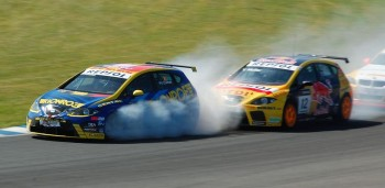Corthals rubs tire, WTCC Oschersleben 2008