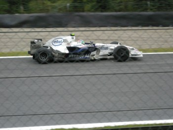 Robert Kubica with BMW-Sauber