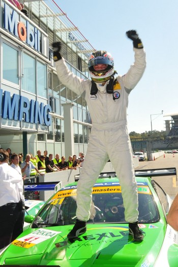 ADAC GT Masters Race 1 - Alex Margaritis celebrating the win of the Championship