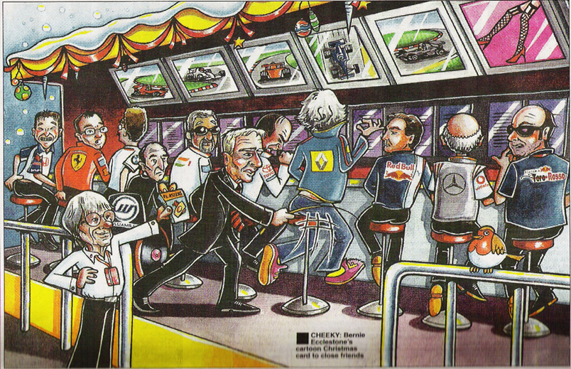 Bernie Ecclestone 2008 Christmas Card