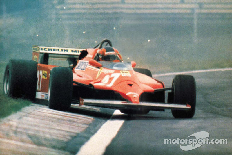 Gilles Villeneuve in his usual style