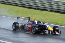 Carlos Sainz (Carlin) on the Senna Straight.