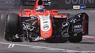 Formula One Monaco 2013 crash of Pastor Maldonado and Max Chilton