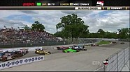 HUGE Pile Up Crash IndyCar Detroit Race 2 2013