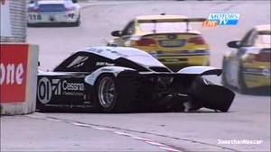Big Wreck for Rojas & Pew at Detroit Grand Am 2013