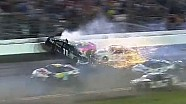 Denny Hamlin Airborne During Huge Wreck | Coke Zero 400, Daytona