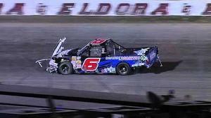 NASCAR Truck Crash at Eldora Speedway   The CARCASH Mudsummer Classic