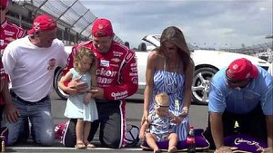 Ryan Newman Kisses the Bricks! | Brickyard 400, Indianapolis Motor Speedway (2013)