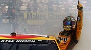 Kyle Busch hangs out of his car window during a burnout! | Watkins Glen (2013)