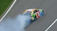 NASCAR Busch and Montoya make contact | Kansas Speedway (2013)