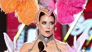 Danica Patrick Dresses Up As Vegas Showgirl