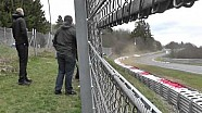 Heavy crash of the Rowe Racing Mercedes-Benz SLS AMG GT3