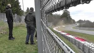 Heavy crash of the Rowe Racing Mercedes-Benz SLS AMG GT3