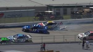 Teammates caught up in multi-car incident