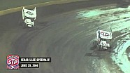 Highlights: World of Outlaws STP Sprint Cars Cedar Lake Speedway June 29th, 2014