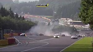 Multiple cars destroyed in HUGE pileup - 2014 24 Hours of Spa