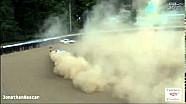 Aston Martin goes airborne in slick conditions - 2014 Mid-Ohio