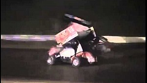 WARNING: GRAPHIC CONTENT. Tony Stewart hits Kevin Ward Jr. at Canandaigua Motorsports Park