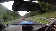 Nurburgring Subaru STi near miss Kesselchen