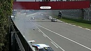 Massive crash, Porsche Carrera Cup Italia 2011 at Imola