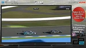 Brake test of Bruno Spengler on Dani Juncadella at Hockenheim