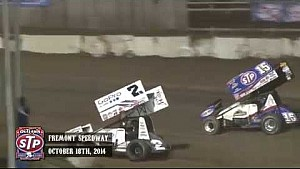 Highlights: World of Outlaws STP Sprint Cars Fremont Speedway October 18th, 2014