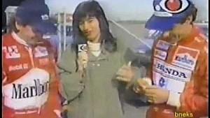 Ayrton Senna tests Penske Indy Car at Firebird Raceway - Portuguese Language