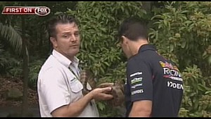 2015 V8 Supercars - Jamie Whincup bitten by snake