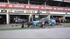 Clipsal 500, Adelaide 2015 V8 Supercar pit stop practice with Volvo