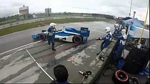 IndyCar crew member escapes serious injury in NOLA pit lane spin