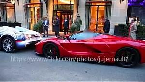 Bugatti Veyron L'Or Blanc hits a LaFerrari